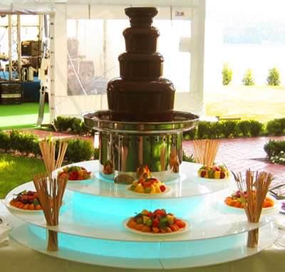 Шоколадный фонтан 85 см высота, 7 кг шоколада, со светящейся акриловой подставкой